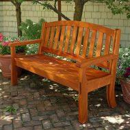 Садовые скамейки своими руками: чертежи и фото из дерева