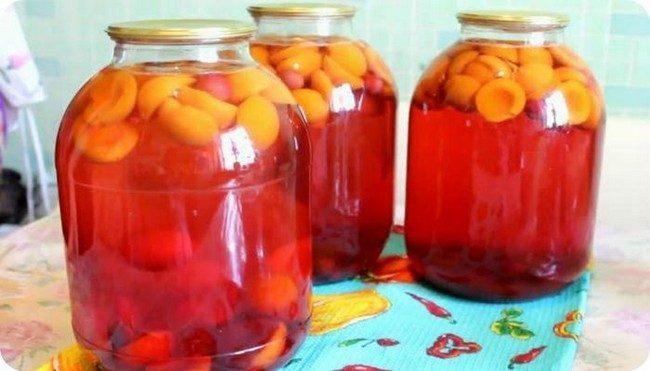 Компот из абрикосов на зиму: простой рецепт на 3 литровую банку
