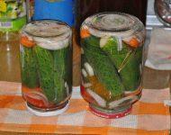 Маринованные огурцы рецепт на зиму хрустящие сладкие на 1 литр