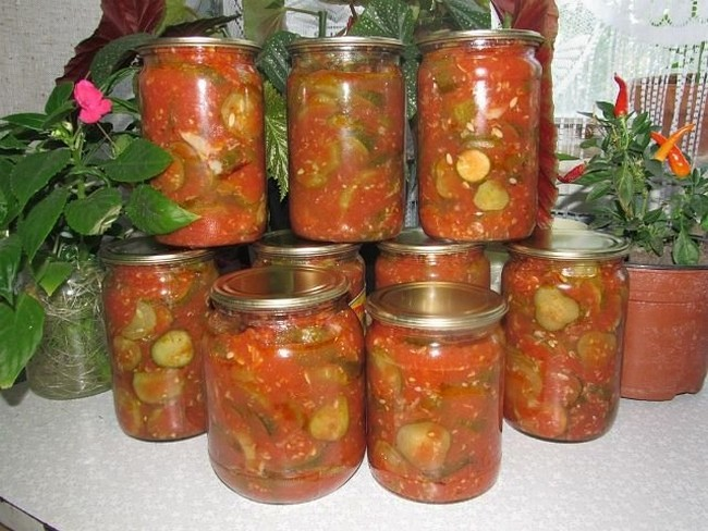 Салаты из огурцов и помидоров на зиму самые вкусные рецепты с фото