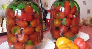 Консервирование помидоров на зиму очень вкусные без стерилизации